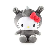 """Hello Kitty 8"""" Plush: Rhino"""
