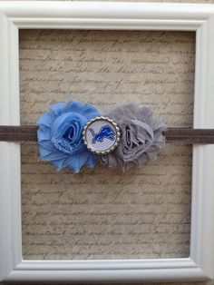 Baby Girl Headband. Could do a similar one for our school team for football games.