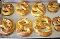 German Soft Pretzels - I think I'd go with  the butter option