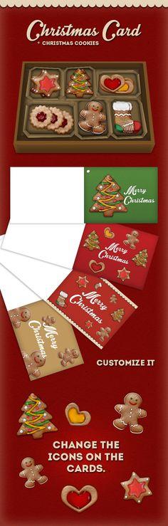 Christmas cookies + card