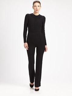 Valentino Lace-Trimmed Silk Jumpsuit -- I can't resist jumpsuits and this one is so Audrey Hepburn.