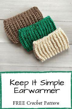 Crochet Ear Warmer Pattern, Crochet Headband Pattern, Crochet Beanie, Easy Crochet Patterns, Crochet Stitches, Crochet Hooks, Crochet Headbands, Hat Patterns, Crochet Projects To Sell