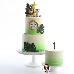 Wild One cake Wild One cake - modelled cake toppers - Inspired Cakes by Amy<br> Jungle Birthday Cakes, Jungle Theme Cakes, Safari Theme Birthday, Animal Birthday Cakes, Baby Boy 1st Birthday Party, Safari Cakes, First Birthday Cakes, Birthday Ideas, Jungle Safari Cake