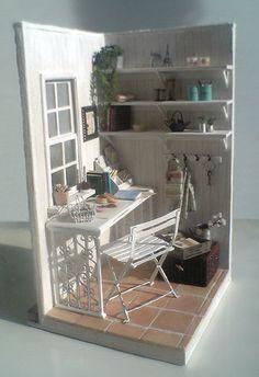 Miniature corner office
