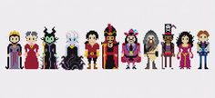 And this lineup of the villains. | 21 Cross Stitch Patterns Every Disney Fan Will Want To Try