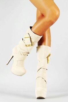 White Platform High Heel Boots - Cute High Heel Boots  - LoveItSoMuch.com