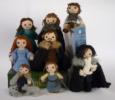 someone crocheted the Starks! that is hilarious! I want to make a crochet Arya!