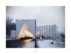 OS31 diseña restaurant sobre un río congelado en Canadá