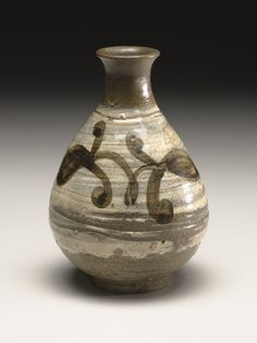 .:. Bottle with Floral Scroll Design 15th - 16th century  Korean, Joseon dynasty  (1392 - 1910)