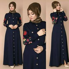 Islamic Fashion, Muslim Fashion, Modest Fashion, Fashion Dresses, Hijab Style, Hijab Chic, Dress Muslim Modern, Mode Abaya, Casual Hijab Outfit
