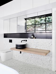 Top 38 Terrazzo Bathroom Tiles Inspire for Wall and floors - My Dream House Beautiful Bathrooms, Modern Bathroom, Small Bathroom, Modern Sink, Bathroom Sinks, White Bathroom, Bad Inspiration, Bathroom Inspiration, Bathroom Inspo