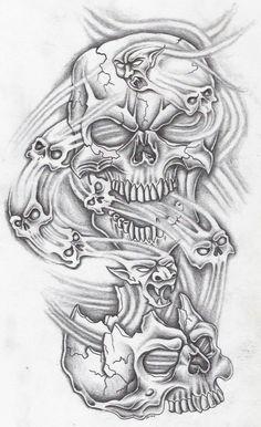 Tattoos Discover ten skullz by markfellows on DeviantArt Evil Skull Tattoo Skull Tattoo Design Tattoo Design Drawings Tattoo Sleeve Designs Skull Tattoos Tattoo Sketches Body Art Tattoos Hand Tattoos Sleeve Tattoos Evil Skull Tattoo, Evil Tattoos, Skull Sleeve Tattoos, Tattoo Sleeve Designs, Body Art Tattoos, Jester Tattoo, Demon Tattoo, Key Tattoos, Foot Tattoos
