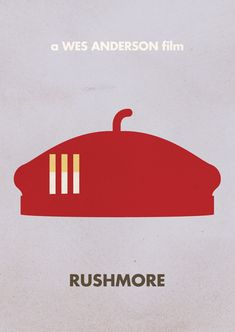 Rushmore | Wes Anderson Minimal Movie Posters by Justin Mezzel