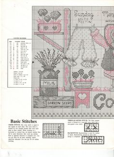 Schema punto croce Country Bloomers 02