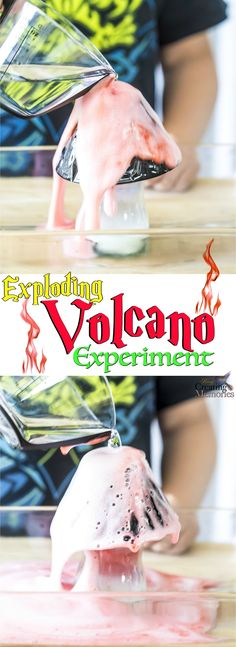 Get kids involved in hands-on activities! A very simple exploding volcano experiment that teaches kids about science and chemical reactions. All while they have fun watching a reaction made from simple household ingredients!  Partnership with P&G