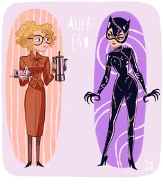 Alter Ego - Selina / Catwoman - Batman Returns Anne did a great job, but Pfeiffer was the bees knees. Batman Et Catwoman, Batman Vs Superman, Batgirl, Catwoman Cosplay, Supergirl, Comic Book Characters, Comic Character, Character Design, Comic Books