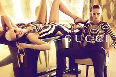 Models Abbey Lee Kershaw & Karmen Pedaru, photographer Mert & Marcus for Gucci Spring 2012 Campaign