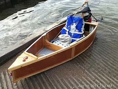 Boat constructed from one sheet of marine plywood; disassembles and nests to fit easily inside SUVs or wagons (or campers!).