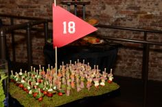 golf themed party tray