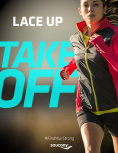 Lace up, take off. motivation