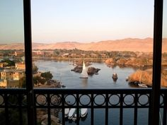 the views from theOld Cataract Hotel, Aswan, Egypt were surreal & breath taking...