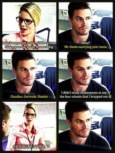 LMAO! Felicity & Oliver