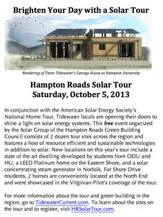 Read the Tidewater Current post about the tour - http://www.tidewatercurrent.com/2013_fall/features.html AND Read Nora Firestone's article in the Virginian-Pilot featuring homes at the North End http://digital.olivesoftware.com/Olive/ODE/VirginianPilot/LandingPage/LandingPage.aspx?href=VmlyZ2luaWFuUGlsb3QvMjAxMy8wOS8yMQ..&pageno=NTg.&entity=QXIwNTgwMg..&view=ZW50aXR5