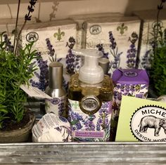 The Lavender Rosemary products are accented with simple pots of Lavender, which both reinforce the theme while visually bringing in nature. Thanks to for photo. Fort Smith, Store Displays, Pots, Lavender, Simple, Creative, Nature, Instagram, Design