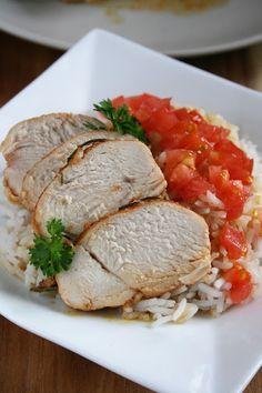 Pieczony filet z kurczaka w marynacie jogurtowej (na obiad , do sałatek i na kanapki)   sio-smutki! Monika od kuchni