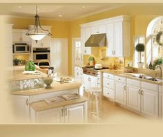 Walls blends in great with the cabinets