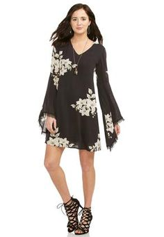Cato Fashions Floral Trapeze Dress #CatoFashions