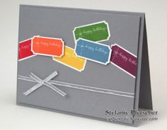 The Crafty Medic: Birthday Ticket - Stampin' Up! That's The Ticket and Sweet Essentials stamp sets.