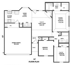 COOL house plans offers a unique variety of professionally designed home plans with floor plans by accredited home designers. Styles include country house plans, colonial, Victorian, European, and ranch. Blueprints for small to luxury home styles. Little House Plans, Best House Plans, House Floor Plans, Traditional House Plans, Traditional Design, Starter Home Plans, Country House Plans, Traditional Bathroom, Luxury Homes