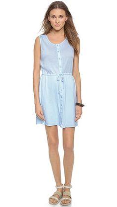 Southport dress pattern  Three Dots Colette Sleeveless Shirtdress