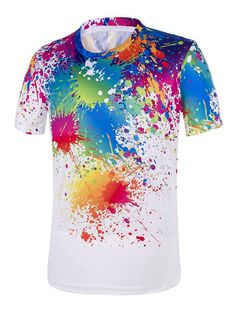 Paint Drip Short Sleeve Tee #men, #hats, #watches, #belts, #fashion, #style