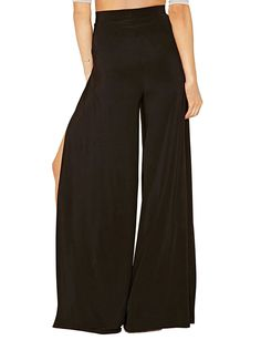 Irisie Womens Solid High Waist Spilt Loose Palazzo Pants -- To view further for this item, visit the image link. (This is an affiliate link) #PalazzoPants