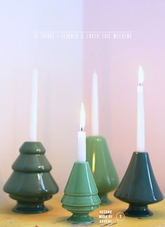 Christmas tree shaped advent candle holders