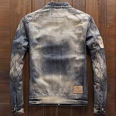 Denim Jacket Fashion, Denim Jacket Men, Denim Jackets, Men's Denim, Men's Triathlon, Slim Fit Mens Jeans, Denim Ideas, Under Armour Men, Retro Fashion