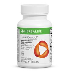 Total Control®  Las tabletas Total Control® contienen una mezcla patentada de extractos de hierbas y cafeína que estimulan rápidamente el metabolismo y proporcionan una sensación de energía y estado de alerta