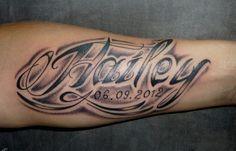 See more tattoo ideas on http://tattoosaddict.com/memorable-lettering-tattoo-on-arm-882.html memorable lettering tattoo on arm #882 - http://goo.gl/LKGq3f #882, #Arm, #Lettering, #Memorable, #On, #Tattoo