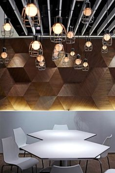 Awesome Wooden Wall + Cool Lighting
