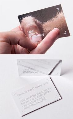 Frame And Mirror Silver Foiled Business Card For A Photographer