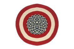 "Americana - Round Braided Rug (2' 6"") by Stroud Braided Rugs. $39.20. Soft, yet durable yarn (synthetic - modified polypropelene). Waterproof: Indoor/Outdoor Rug. Machine washable (lay flat to dry). Reversible and fade resistant – the color goes all the way through the rug. American Made. This round braided rug is handmade in America (colors: blue, red). It is usable indoors or outdoors, machine washable, reversible, and stain/fade resistant. Customers with braided rugs fro..."