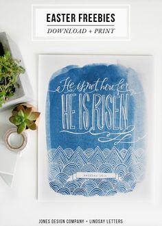 free easter art prints + place cards / jones design company