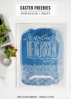 free easter art prints + place cards / jones design company