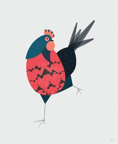 2 chickens on Behance