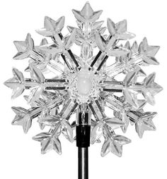 Acrylic Solar Snowflake Path Light at Menards; $4.99 sale