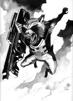 Rocket - Stéphane PERGER BD BLOG: B & W Comics Commissions All-in-One