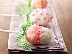 Rice crispy dipped and decorated with chocolate! Cute idea