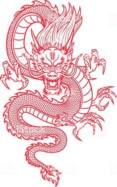 Dragon Tattoo Drawing, Asian Dragon Tattoo, Dragon Tattoo For Women, Dragon Tattoo Designs, Dragon Tattoo Stencil, Red Ink Tattoos, Dope Tattoos, Mini Tattoos, Body Art Tattoos